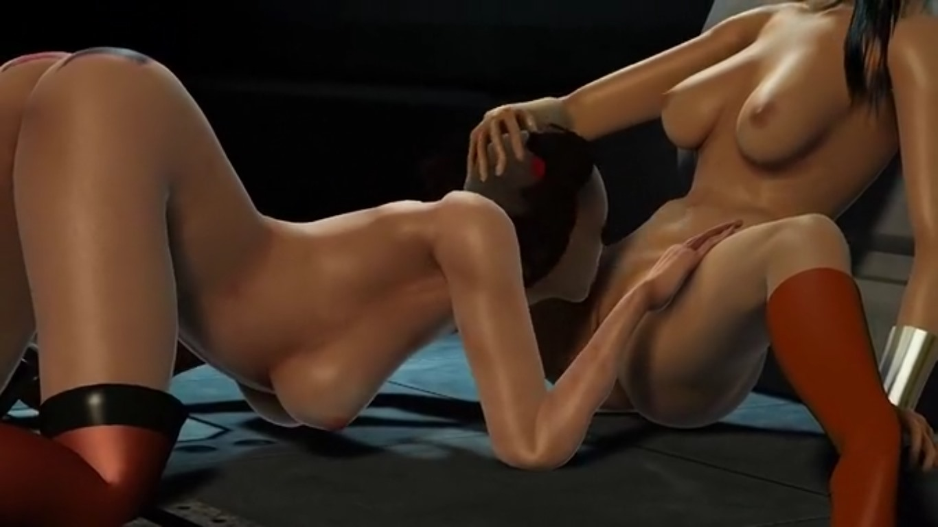 3D Lesbian Porn 3d lesbian licking shaved pussies outdoor   watchanime.video